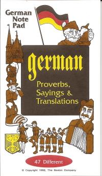German Note Pad